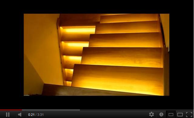 oświetlenie schodów, oświetlenie schodowe