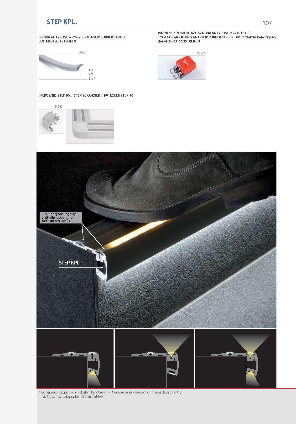 profil step, profil schodowy, profil schodowy led, led profiles for stairs, stairs profile, treppen profile, led treppen profile